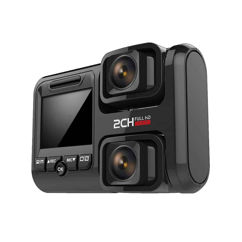 1080p Car DVR Double Dash 170 Degrees Wide Cameras With GPS Function WIFI